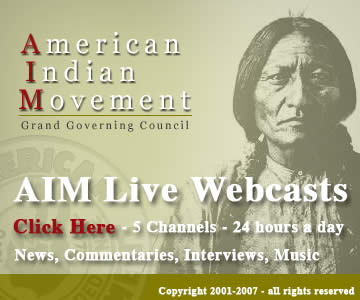 American Indian Movement - AIM -